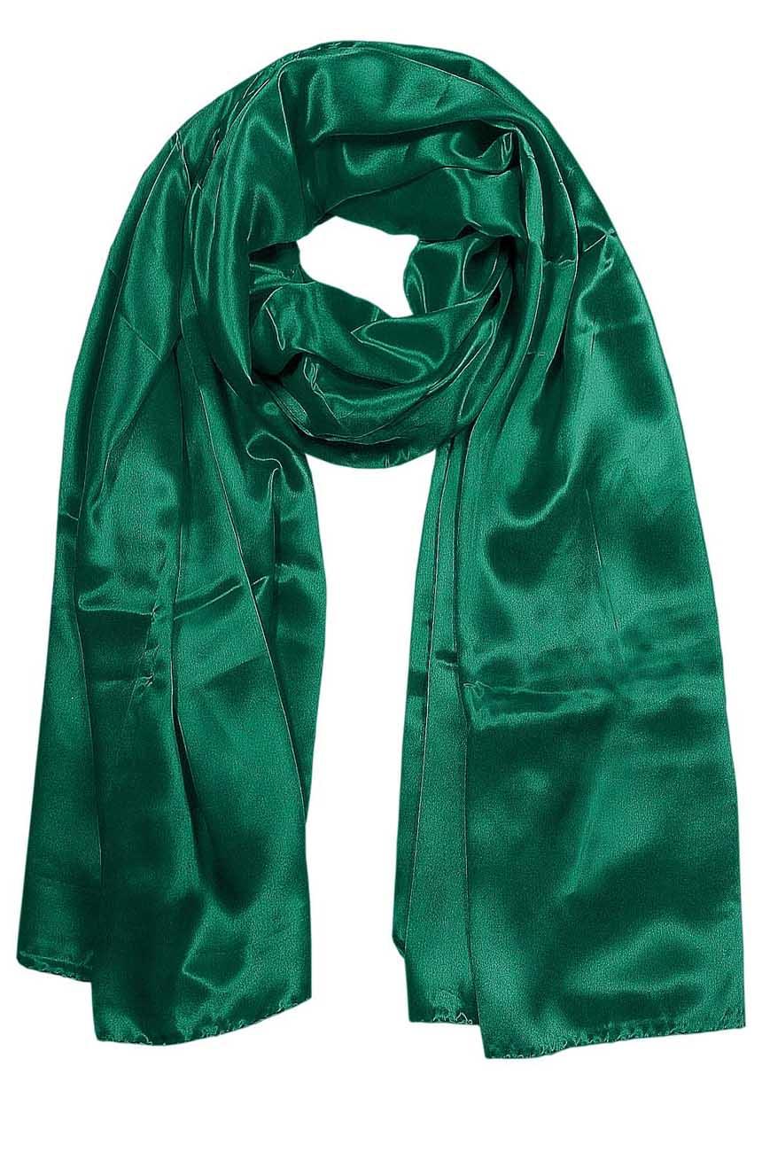 Algae green mens aviator silk neck scarf 75 inches long in 100% pure satin silk.