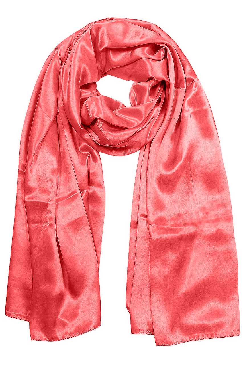 Womens silk neck scarf in fuchsia 22×75 inches with plenty of material to wrap around the head or shoulders in many ways.