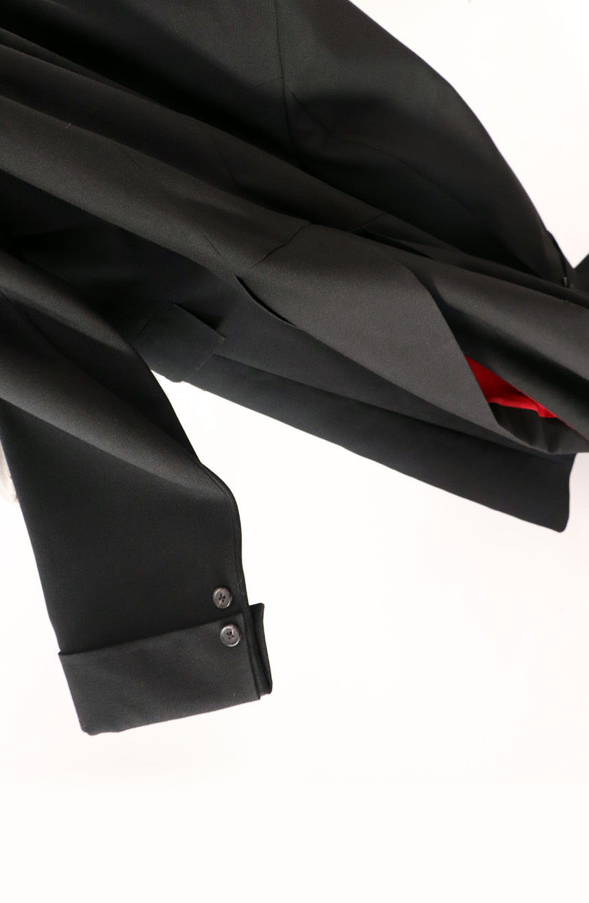 100% screen accurate shadow coat costume replica from the 1994 film The Shadow, starring Alec Baldwin. Sleeve buttons view.